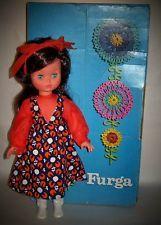 VINTAGE FURGA DOLL ITALY GO-GO BOOTS 1960'S MOD GIRL FLOWER POWER CHRISTMAS DOLL