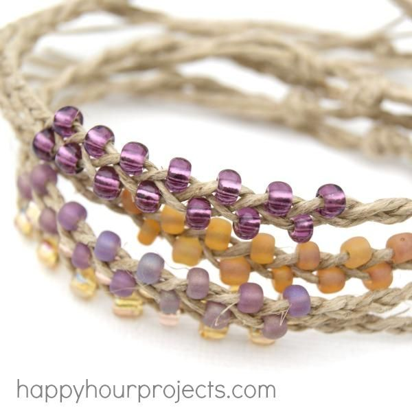 DIY Friendship Bracelet : DIY Braided Bead and Hemp Bracelets