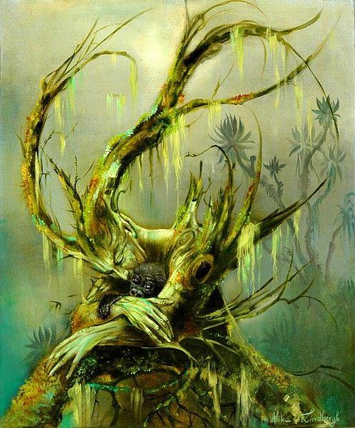 Alika Lindbergh, Le baiser de la forêt, huile sur toile / ©Musée du Vivant - AgroParistech