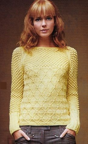 femenino, suéter, tejer