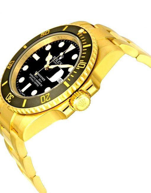 Get the best Rolex Submariner price for Rolex Submariner Date Watch: 18 kt yellow gold – 116618BKSO model  #Rolex #Submariner #RolexSubmariner