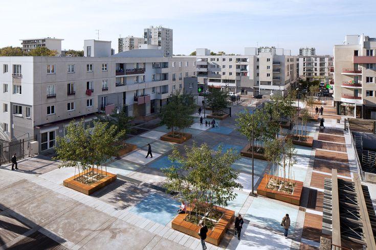 Aménagement urbain de la Place des Droits de l'Homme à Tremblay-en-France