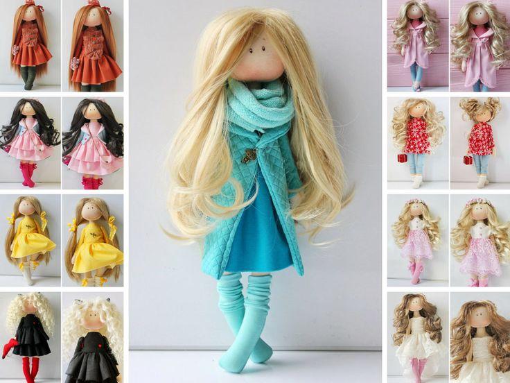 Birthday doll Green doll Tilda doll Fabric от AnnKirillartPlace