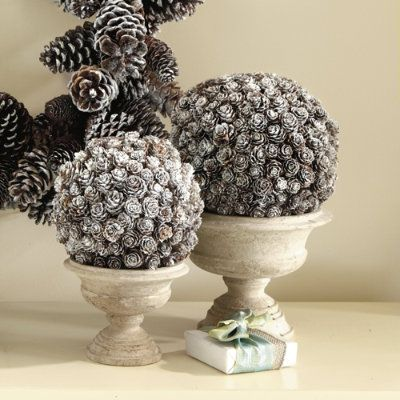 Woodsy Christmas Decor: Pine Cone Topiary - Somewhat Simple