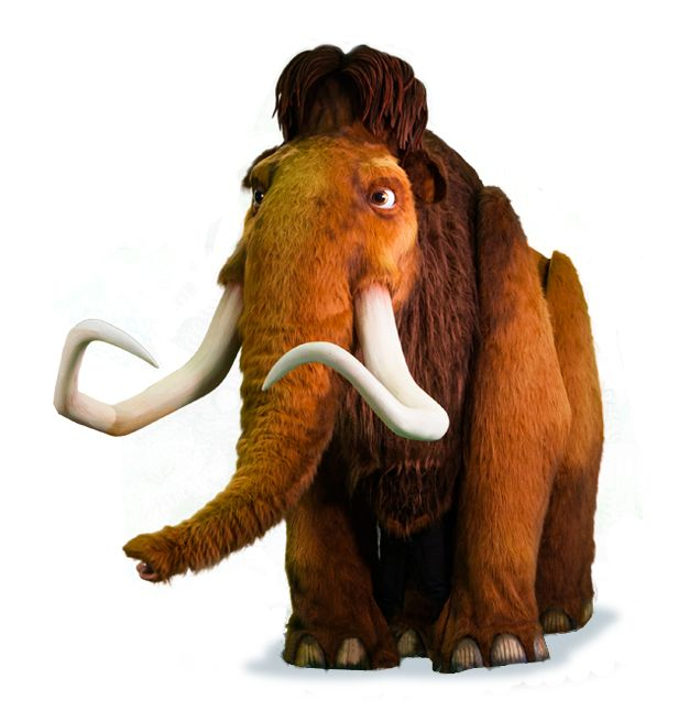 Manny the Woolly Mammoth (voiced by Ray Romano) from Ice Age. From Blue Sky Studios, a division of 20th Century Fox.