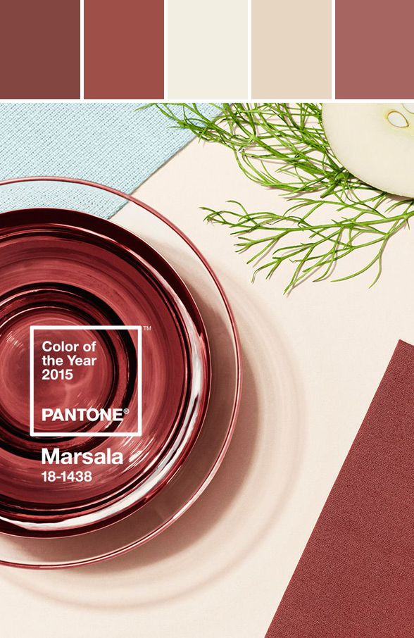 2015 Color of the Year-Marsala #pantone