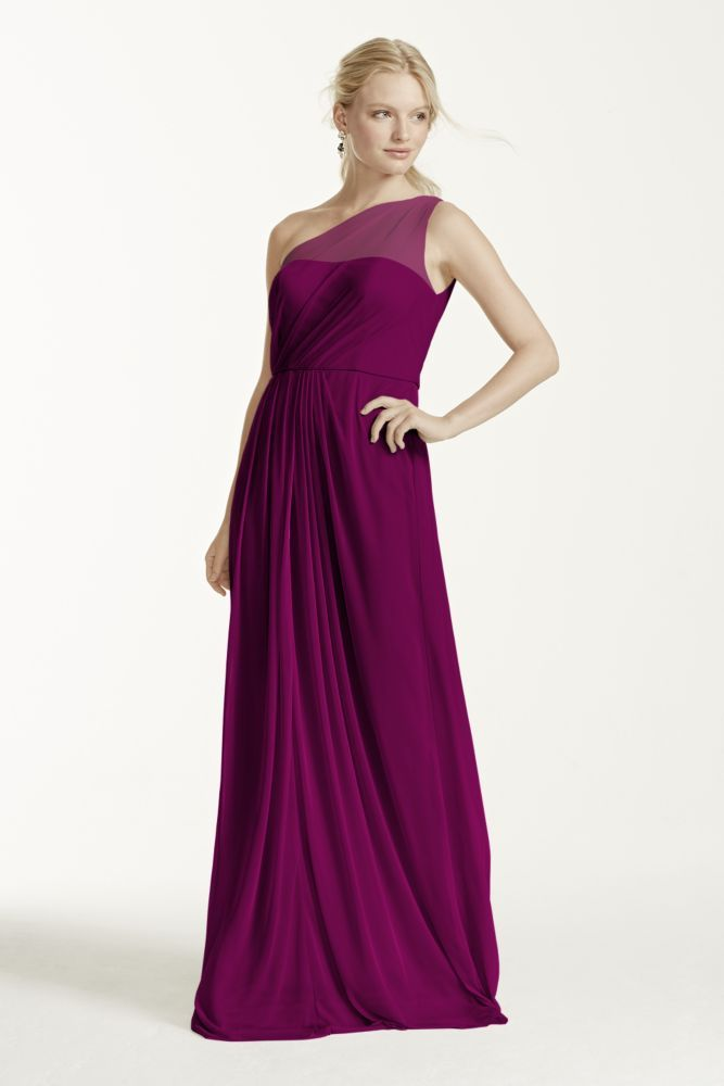 ba0a2a40818 Appliqued Faille High-Low Bridesmaid Dress Style OC290019