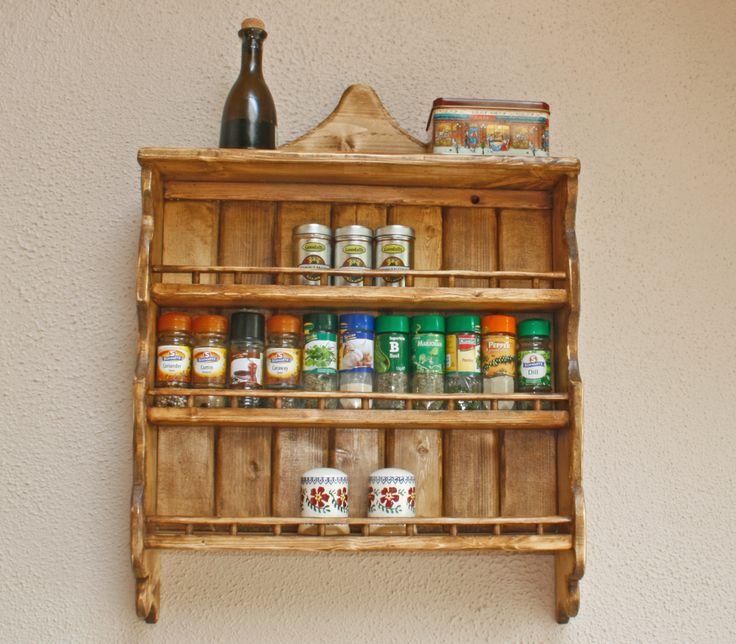 spice rack from reclaimed wood