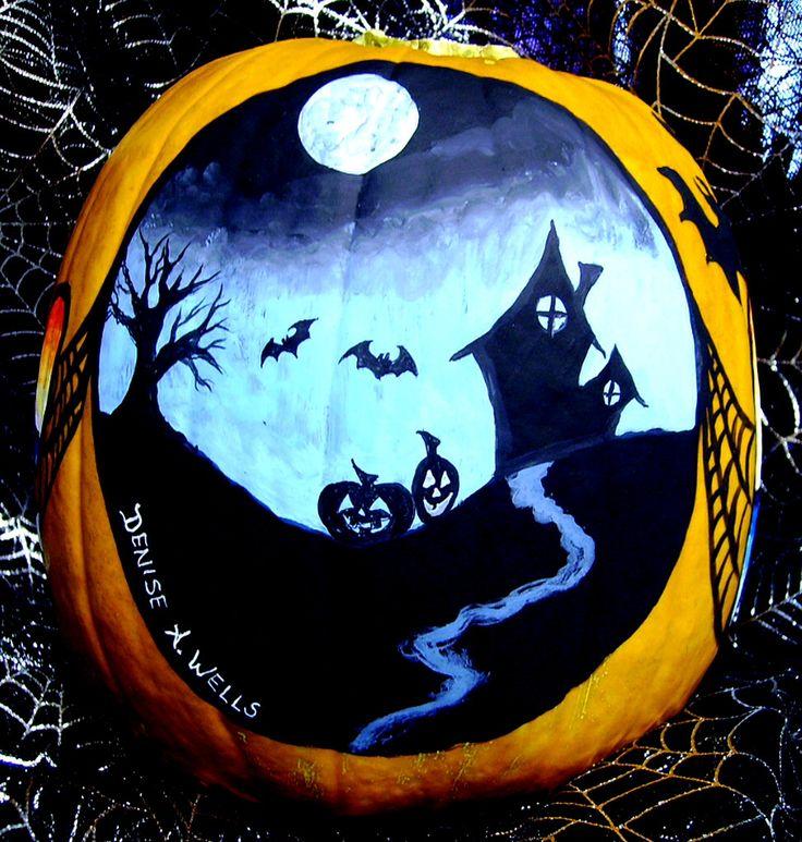 painted pumpkin ideas halloween - Halloween Pumpkins Painted