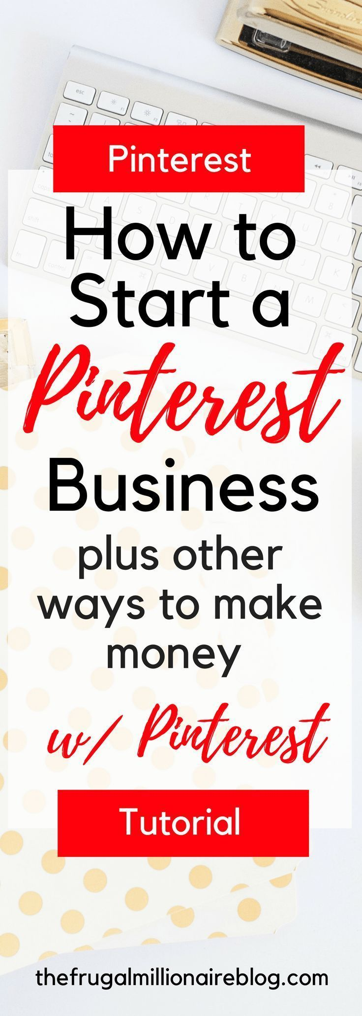 How to make extra money with Pinterest. Start a Pinterest business, ways to make money online. #makemoneyonline #virtualassistant #pinterestvirtualassistant #pinterest