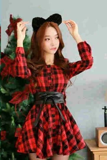 Jual mini dress korea terbaru square KK205