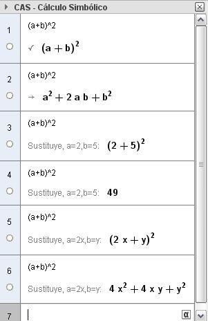 Álgebra con Geogebra - CAS: OPERACIONES CON POLINOMIOS