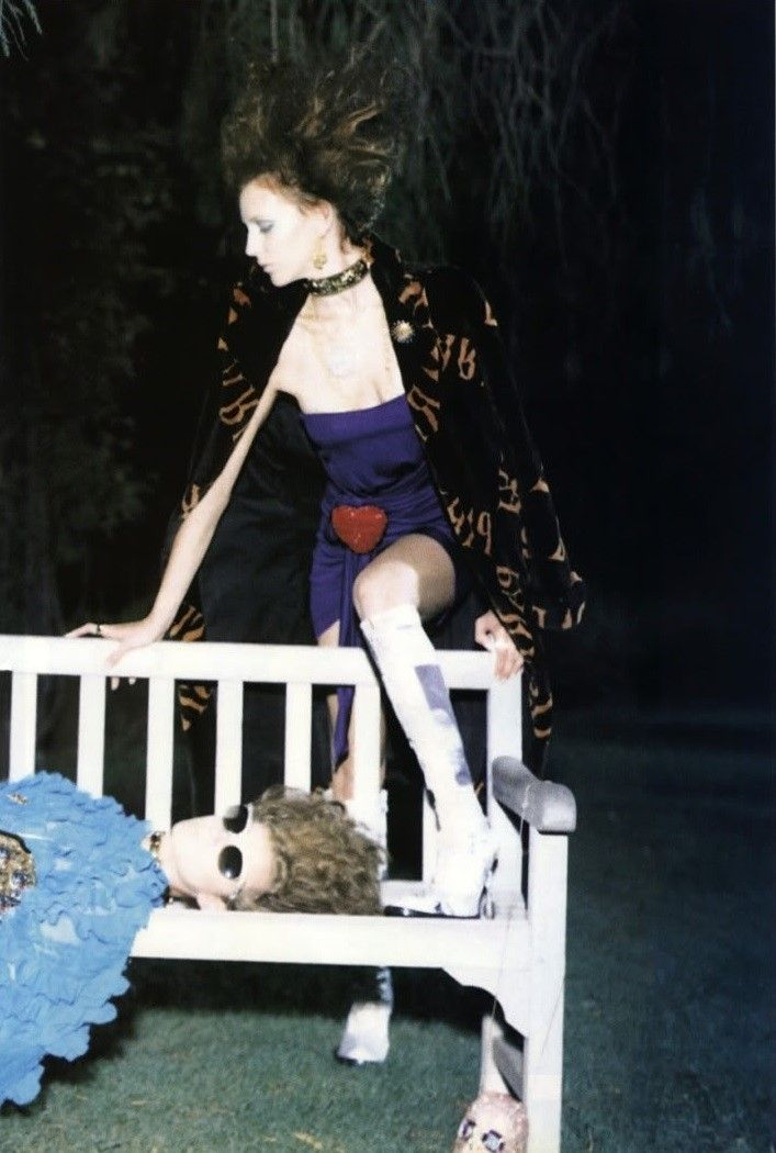 An Oost & Hannelore Knuts in The Garden for Vogue Italia, September 2000  Shot by Steven Meisel  Styled by Lori Goldstein