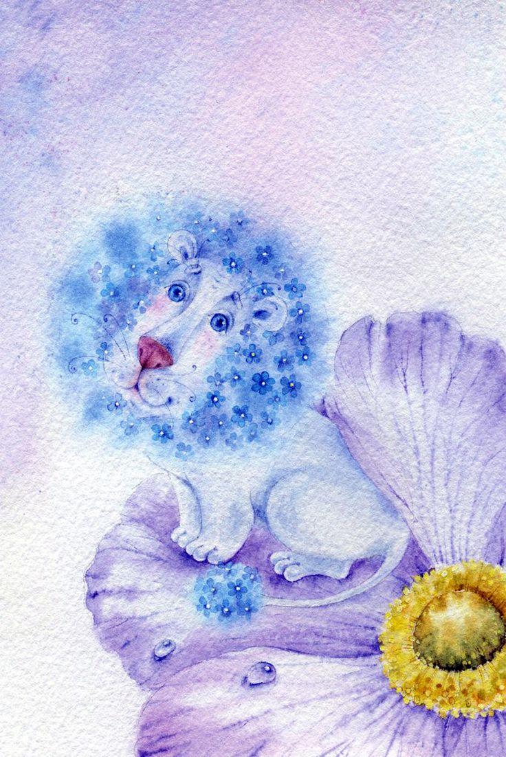 ЭЛИНА РЕПКИНА (МОИСЕЕНКО) Незабудковый лев
