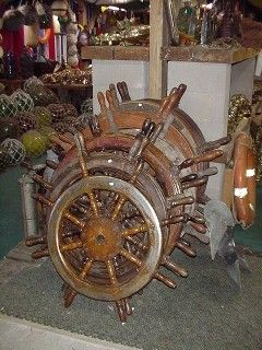 Different sizes Ship Wheels - Nautical Antique