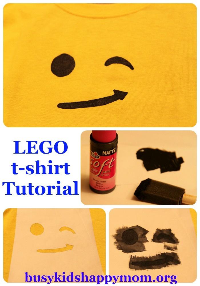 Busy Kids = Happy Mom: LEGO T-shirts with Freezer Paper Stencil