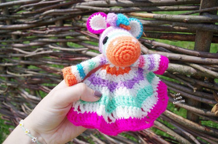 Crochet zebra amigurumi toy crochet baby comforter toy crochet zebra baby toy Zebra crochet amigurumi stuffed toy plush crochet animals by CuteLambKnitting on Etsy
