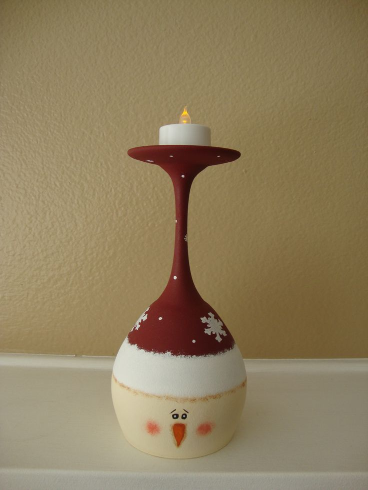 178 best wine glass candle holders images on pinterest for Wine bottle candle holder craft