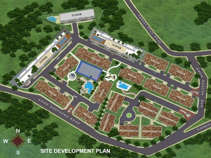 (Site Development Plan) - A welcoming Grand Fountain setting a romantic and dreamy ambiance and providing a calming effect, as you enter the subdivision...Php 1,399,200.00