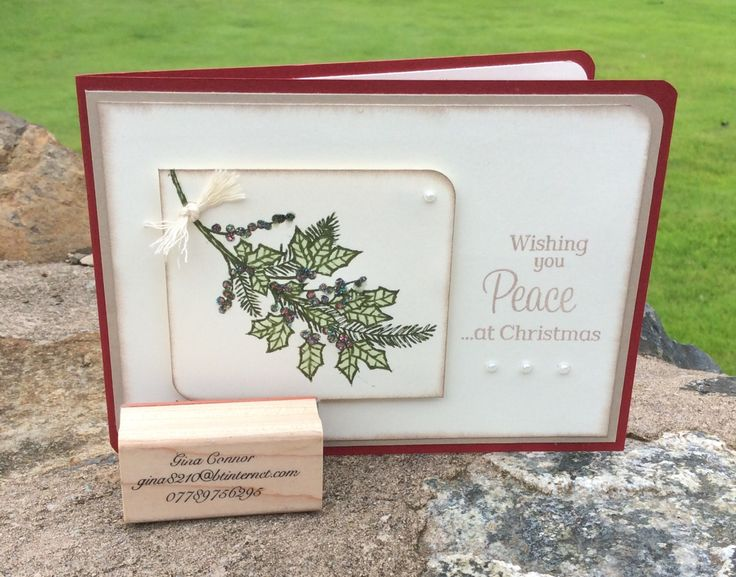 Using the Peaceful Wreathe Stamp set from Stampin Up