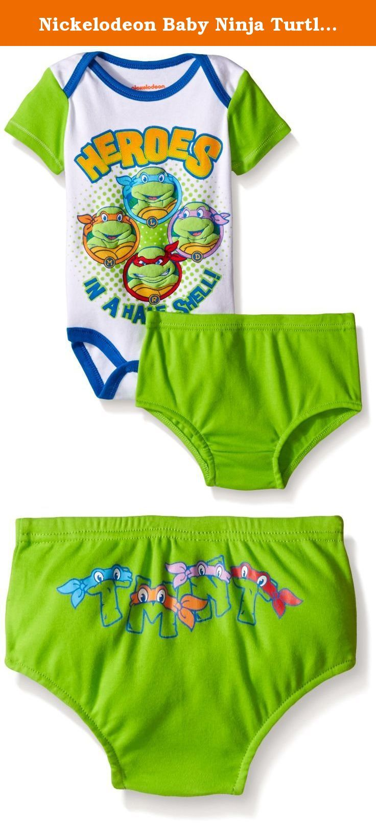 Nickelodeon Baby Ninja Turtle 2 Piece Soft Diaper Cover Set, Green, 3-6 Months. This adorable 2-piece set is a great value for your baby. Great character features with fun artwork and attractive colors in any season.