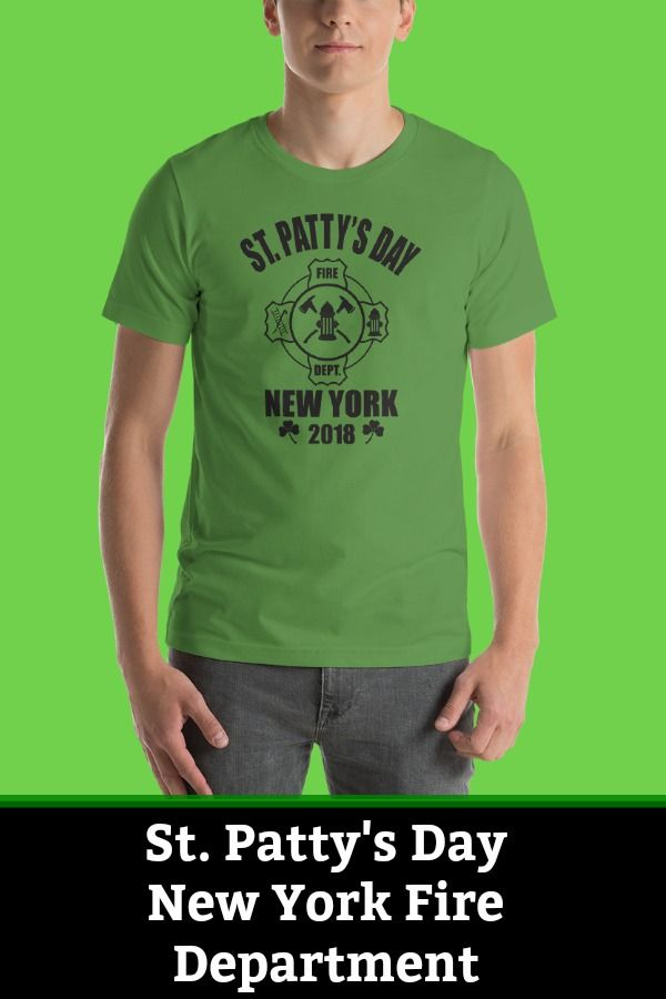 ebde1b7f2 St Patrick's Day NYC Fire Department Tshirt. Take pride in your Irish roots  and flaunt this Irish firefighter tshirt this St Paddy's day!