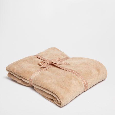 Brown Fleece Blanket - Blankets - Bedroom   Zara Home Greece