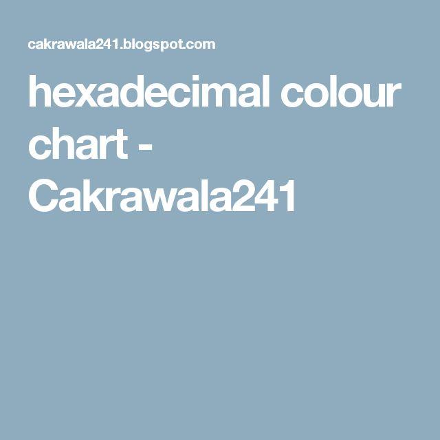 hexadecimal colour chart - Cakrawala241