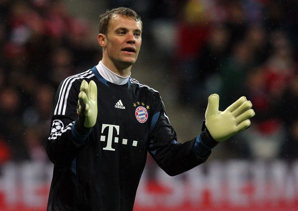 Manuel Neuer, goalkeeper of Muenchen reacts during the UEFA Champions League quarter-final second leg match at Allianz Arena on April 3, 2012 in Munich, Germany.