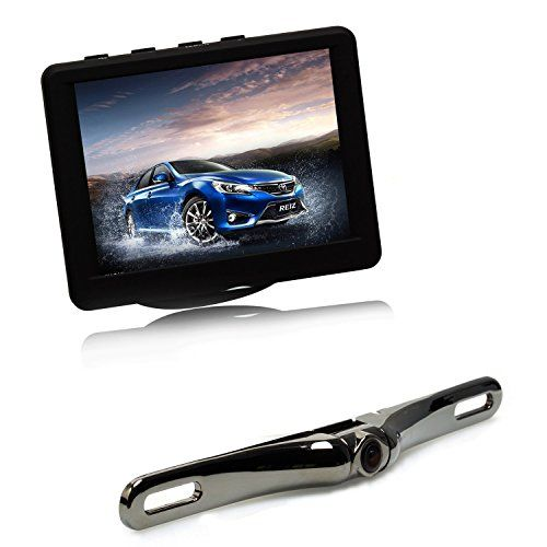 AUTO-VOX Car Wireless Rear View Camera Monitor Kit - 3.5 Inch LCD Reversing Monitor 2.4G Wireless with 165 Degree Wide Angle License Plate Backup Camera