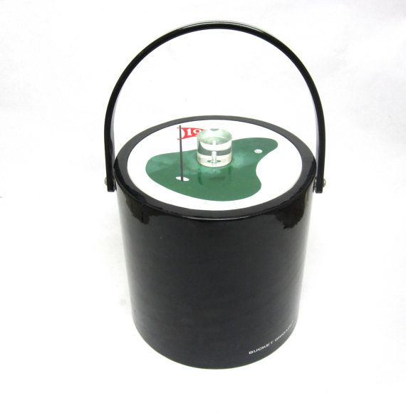 Vintage Ice Bucket Black Bucket Brigade 19th by sweetie2sweetie