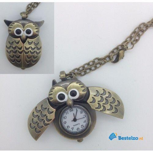 Uilenketting met horloge: €7,95