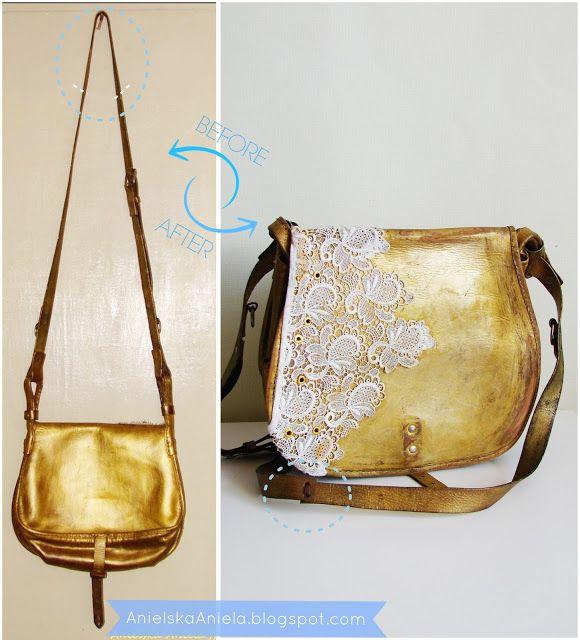 diy tutorial How to Shorten too Long bag Strap jak skrócić za długie rączki, pasek od torebki