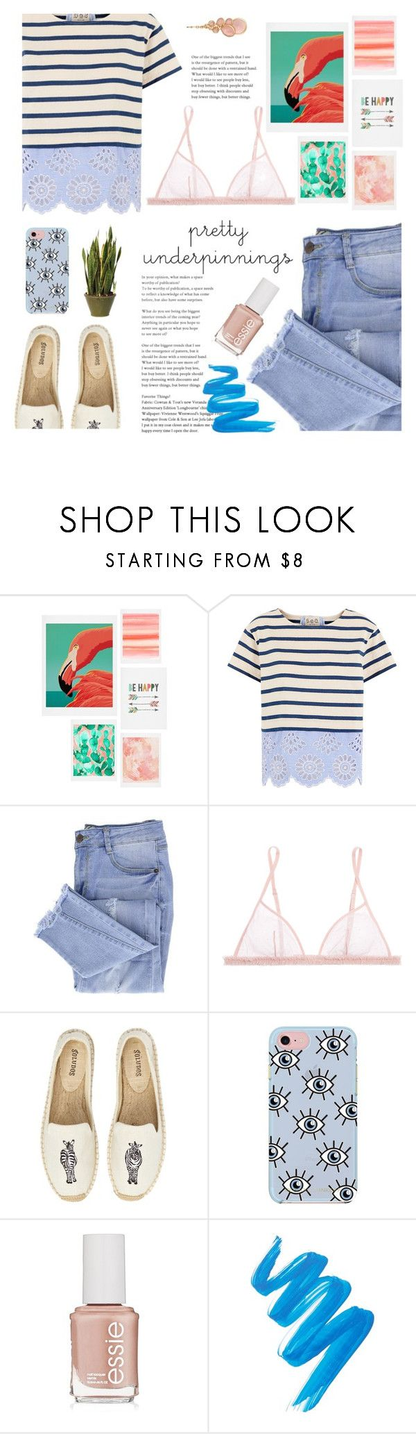 """Don't Worry, Be Happy"" by icyhot ❤ liked on Polyvore featuring DENY Designs, Sea, New York, Essie, La Perla, Soludos, Rebecca Minkoff, L.A. Girl, Avon, contest and bralette"
