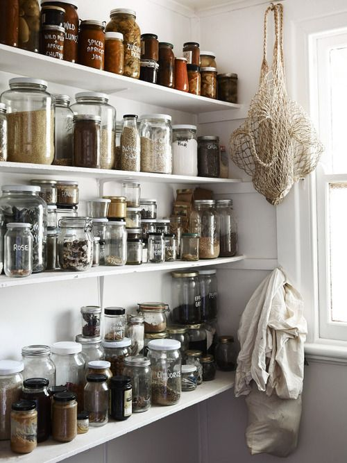 Collection of bulk dry goods in jars | Zero waste pantry