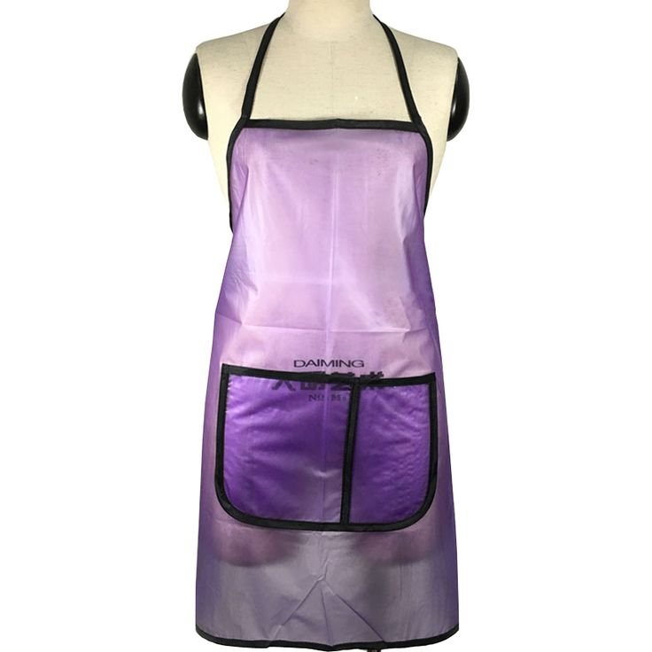 Professioanl PVC Hair Apron With Pocket Pet Shop Work Apron Waterproof Hairdressing Pinafore Hot Selling