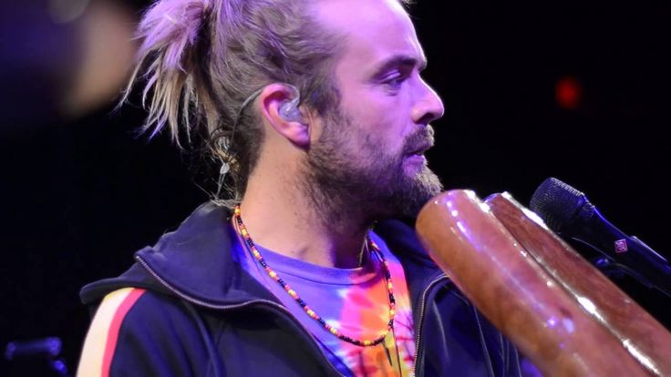 "Xavier Rudd-Lioness Eye. LOVE XAVIER!!! SO TALENTED. ""one man band"", from Australia, didgeridoo madness!!!!!"