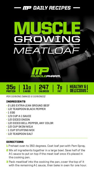 Bodybuilding Recipe: Muscle Growing Meatloaf at ProSource.net