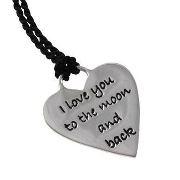 Poetic Pieces Necklace - LOVE HEART P13S - Sterling Silver