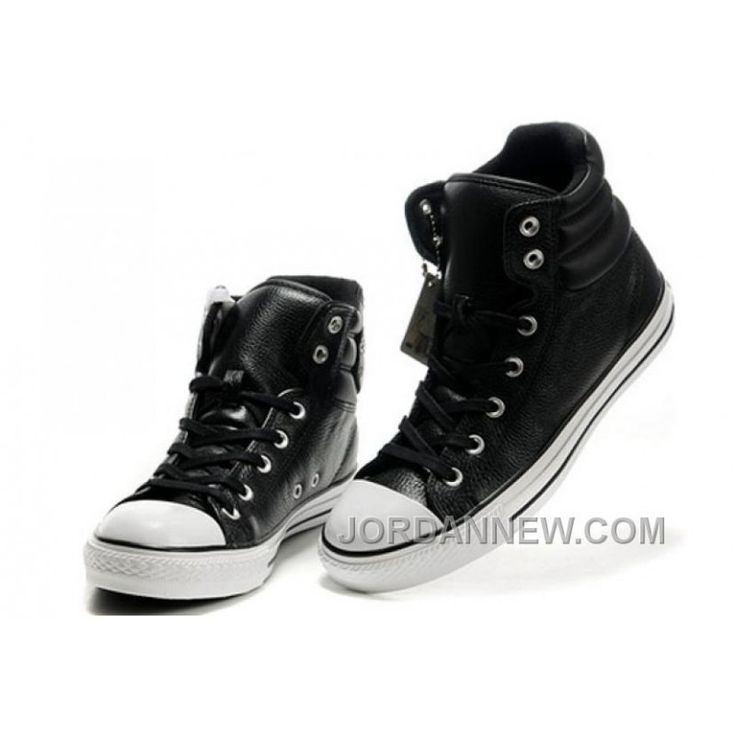 New Embroidery Black Leather CONVERSE Padded Collar Chuck Taylor All Star Winter Boots Lastest, Price: $58.23 - Air Jordan Shoes, Michael Jordan Shoes - JordanNew.com