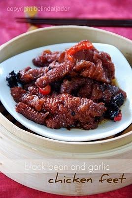 Angsio Ceker Ayam (Black Bean and Garlic Chicken Feet)