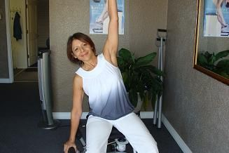 pilates chair side bend
