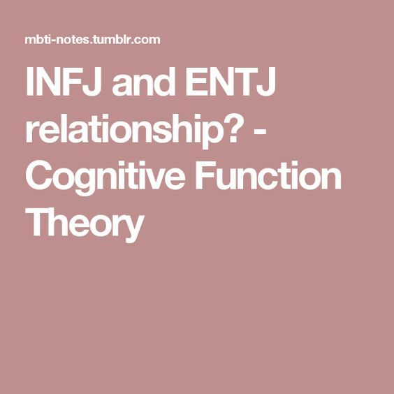 INFJ and ENTJ relationship? - Cognitive Function Theory