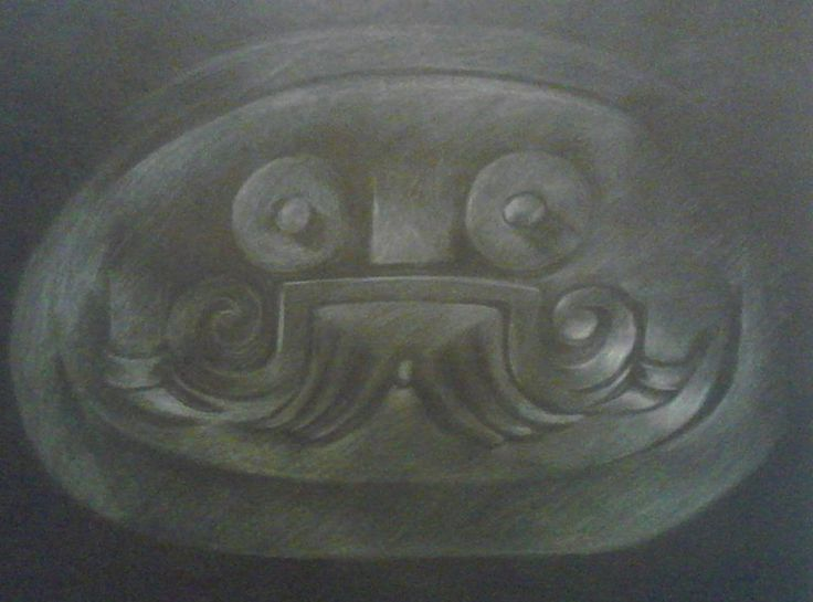 Dibujo al lápiz blanco sobre negro mate 50 x 70 cms