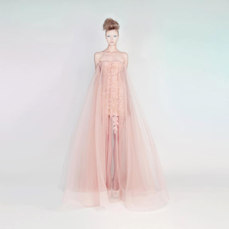 Guipure and Tulle Dress W/ Swarovski Crystals