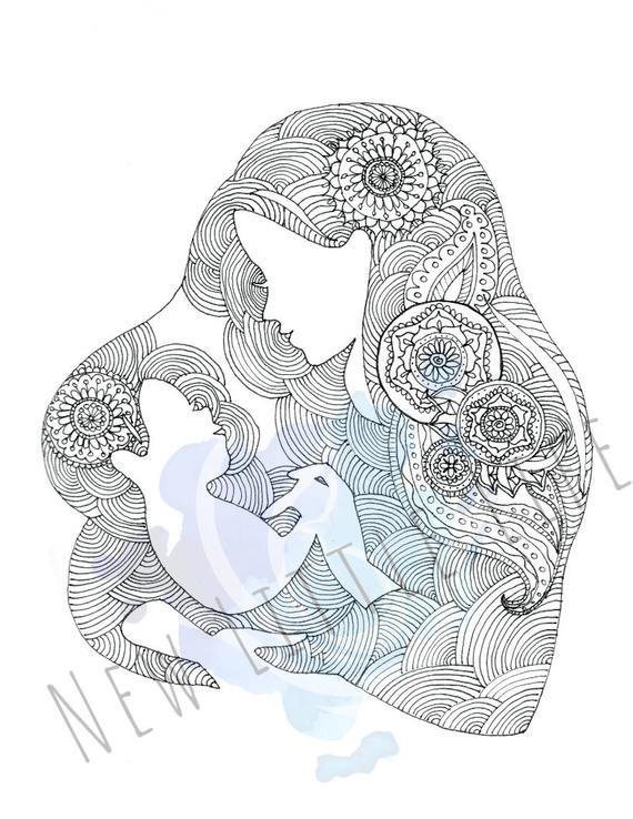 Mandala Art Of Pregnant Lady Novocom Top