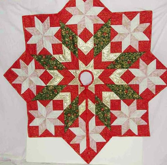 Christmas Tree Skirt 54 By Inches Patchwork Wonderful