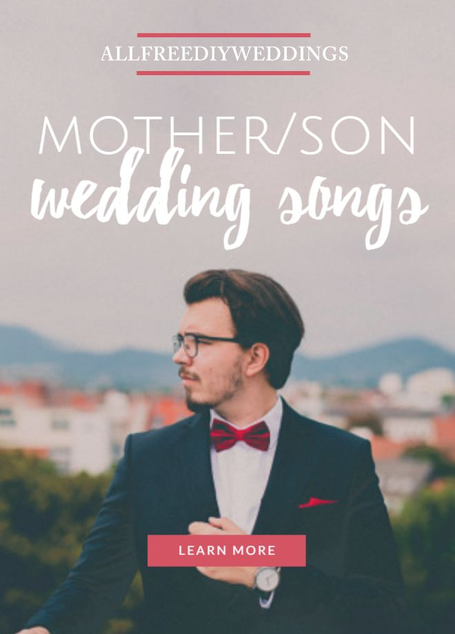 23 Mother Son Wedding Songs