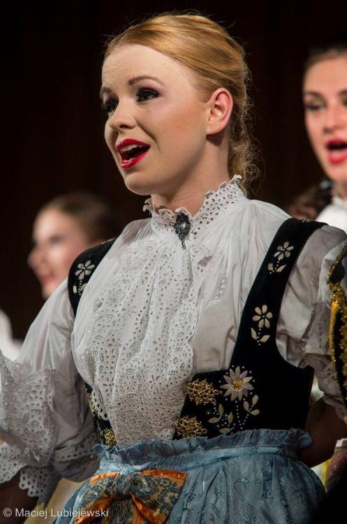 Folk costume from Cieszyn town, Poland.