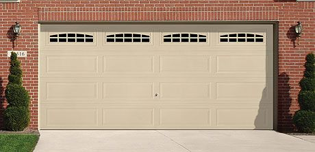 This steel garage door is wayne dalton 39 s basic entry level steel garage door this garage door - Wayne dalton garage door panels ...